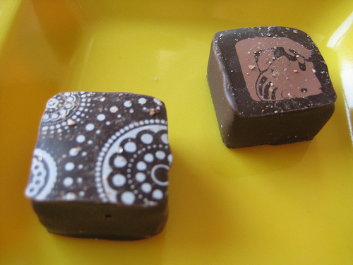 Cocoa dolce truffles - 1/31/10